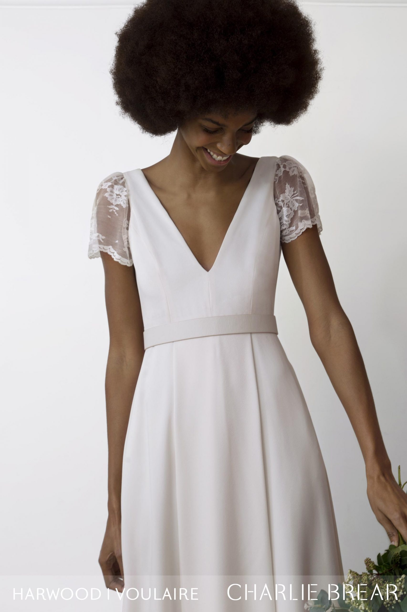Harwood Dress with Voulaire Sleeves