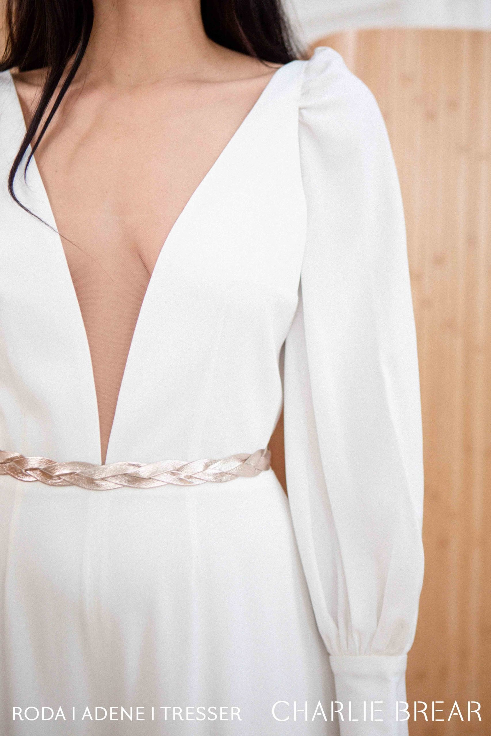 Roda Jumpsuit with Sleeves and Belt
